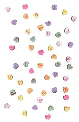 Candy heart valentines