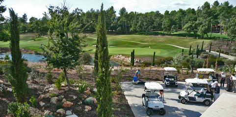 terrain et jeux de golfe