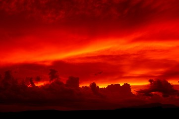 Poster Cuban Red Sunset in the Southeastern section of Arizona