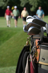 Golf Players and Bag