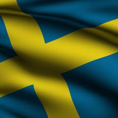 Rendered Swedish Square Flag