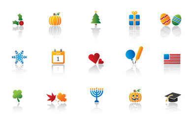 Holiday Icon Set - Full Color