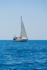 Sailboat on black sea - Crimea, Ukraine