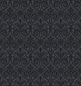Seamless gothic Damask Wallpaper