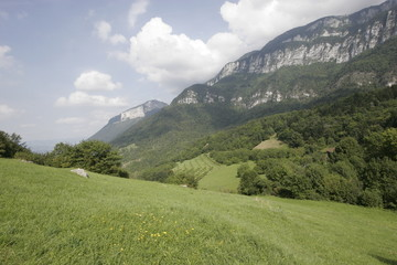 landscape of mountain in isere