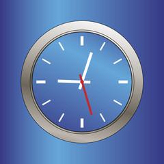 blue metallic beveled clock face illustration