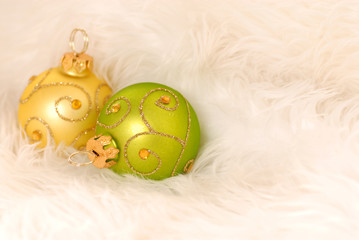 Christma ornaments isolated on white
