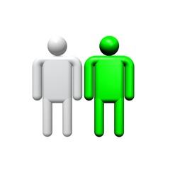 green - men