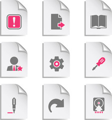 Gray document web icon, set 6