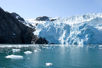 Printed kitchen splashbacks Glaciers Hubbard glacier in Alaska USA