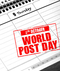 october 9 - world post day