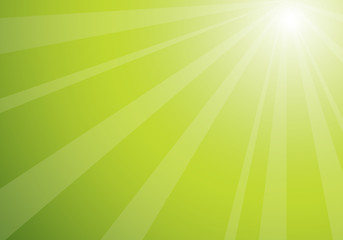 beautiful green sunshine, vector illustration