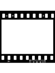 Frame of photographic film ( seamless ) isolated on white
