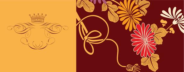 japanese floral design background