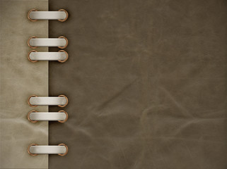 Leather grunge background of brown color