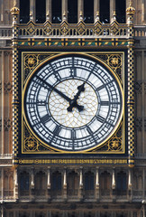 A photography of the clock of Big Ben