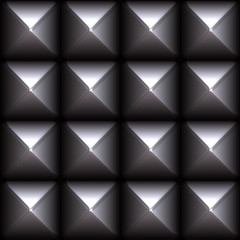 A metal studs pattern that tiles seamlessly as a pattern.