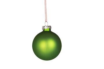Simple green Christmas ornament isolated on white