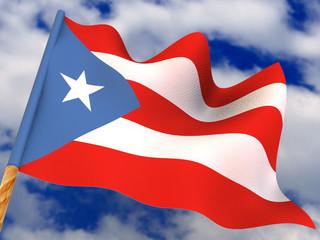 Flag. Puerto-Rico. 3d