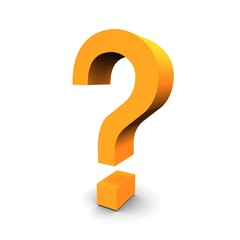 Question symbol 3d rendered image