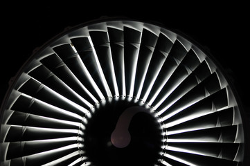 Abstract background of a jet engine
