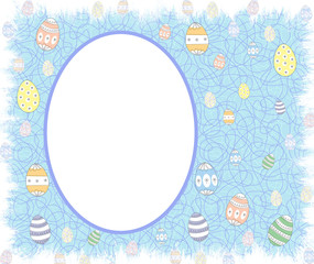 Easter eggs Oval Celebration Border / Frame