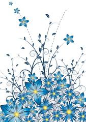 vector fantasy flower illustration