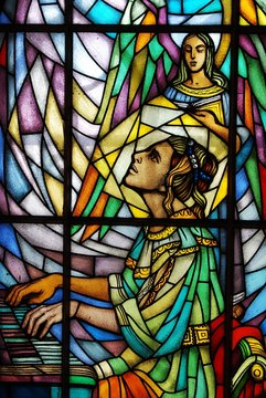 Stained Glass - St. Cecilia