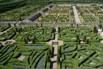 Le jardin du château de Villandry (Indre-et-Loire)