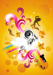 Live and Energetic! Vector illustration