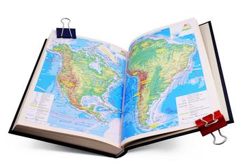 Papiers peints Amérique du Sud Geographic Atlas.