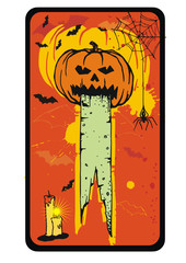 vector pumpkin card
