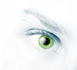 abstract girl's green eye
