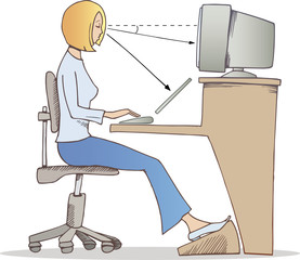 proper way of working on computer