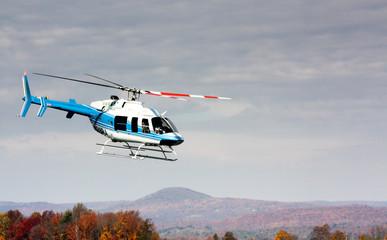 helikopter tijdens de vlucht
