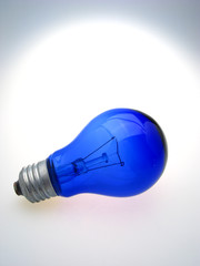 dark blue electric lamp on  white background