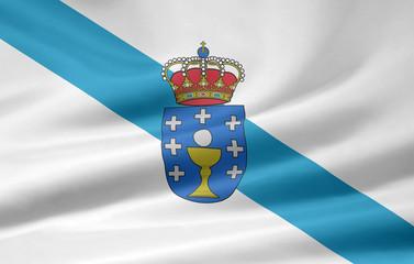 Flagge von Galicien