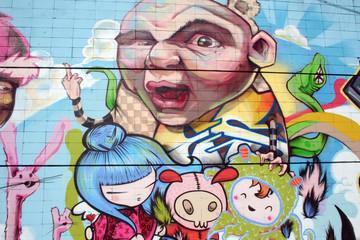 fantasy graffiti. arte urbano en santa cruz de tenerife