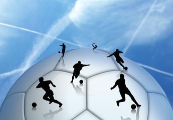 Calciatori sul pallone