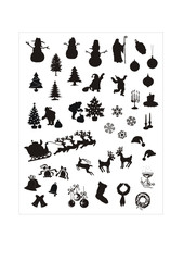 christmas vector silhouettes