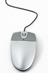 computer mouse on the white background in studio