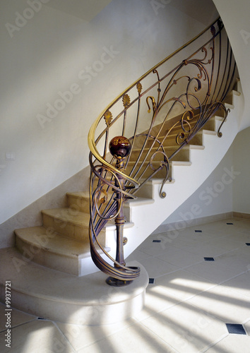Rampe D 39 Escalier En Fer Forg Stock Photo And Royalty Free Images On Pic 9937721