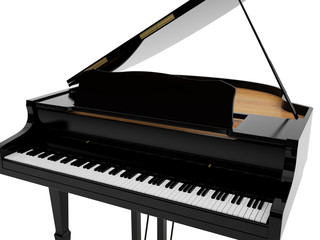 Grand piano of black colour