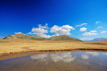 Pond in Mavrovo region, Macedonia