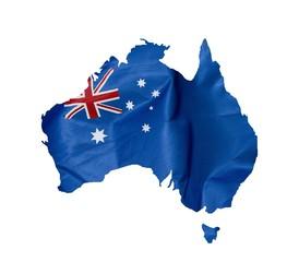 Drapeau carte australien
