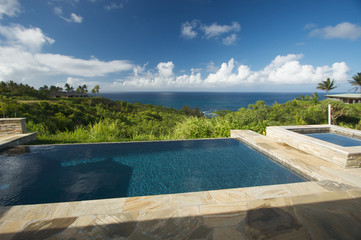 Pool and Hot Tub Overlooking the Ocean