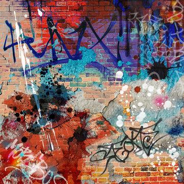 A Messy Graffiti Wall Background