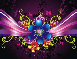 vector fantasy flowers illustration