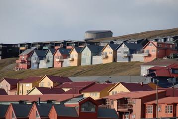 maisons de couleur au Spitzberg
