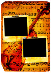 Vintage musical pages (polaroid)